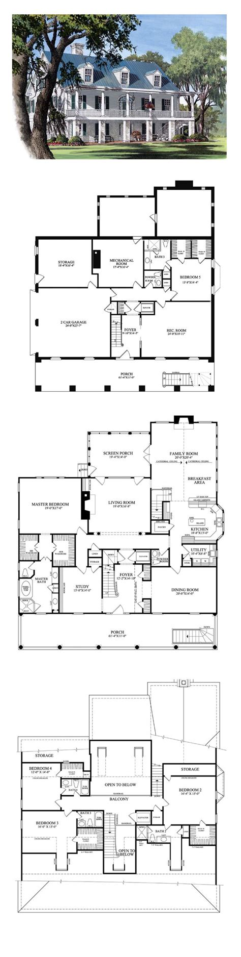 southern plantation floor plans best 25 architectural house plans ideas on