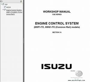 Isuzu C  U0026 E Series Workshop Manuals Pdf