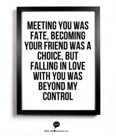 Falling in Love with You Was Beyond My Control Quotes