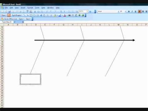 creating  fishbone diagram template  excel youtube