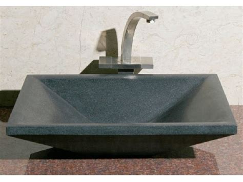 rectangular stone vessel sink allstone rectangular stone sink sinks gallery