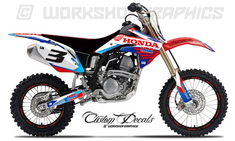 Honda Crf150l Image by Crf150 Hrc White Graphics Kit Workshop Graphics