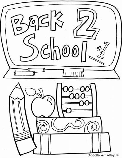 Coloring Pages Classroom Doodles Printables