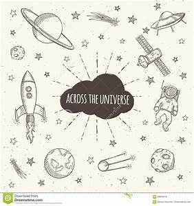 Hand Drawn Set Of Astronomy Doodles. Stock Vector - Image ...