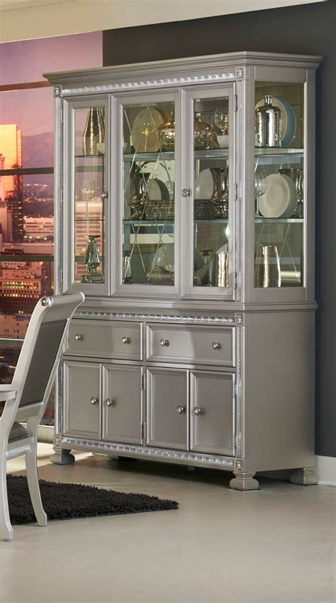 Silver China Cabinet by Homelegance Bevelle China Cabinet Silver 1958 50 55 At