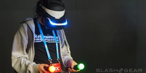 ps virtual reality headset project morpheus played