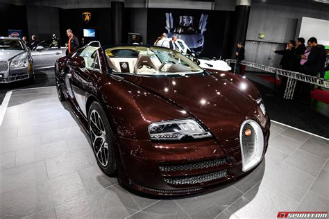 Vienna 2018 Chocolate Carbon Fiber Bugatti Veyron Grand
