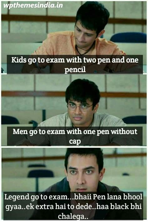 true bollywood dialogue exam quotes funny exams