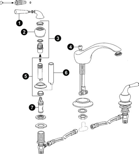 pegasus kitchen faucet moen faucet parts diagram kitchen