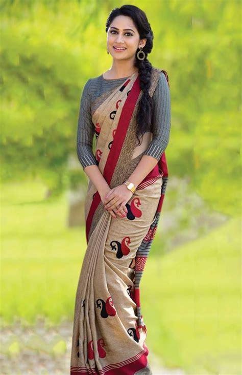 miya george malayalam actress latest saree