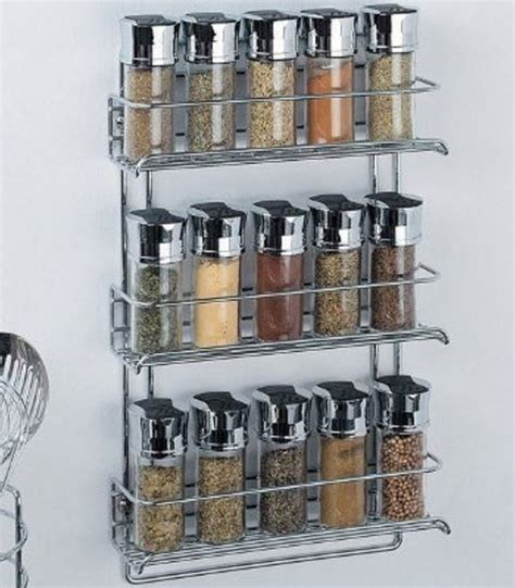 Tier Spice Rack by Three Tier Mounted Spice Rack Chrome In Spice Racks