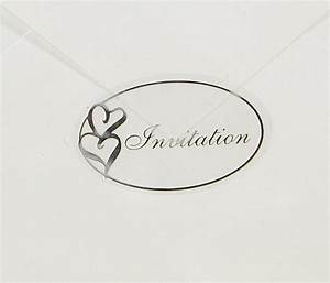 100pcs transparent wedding envelope seal stickers 14x09 for Wedding invite envelope stickers