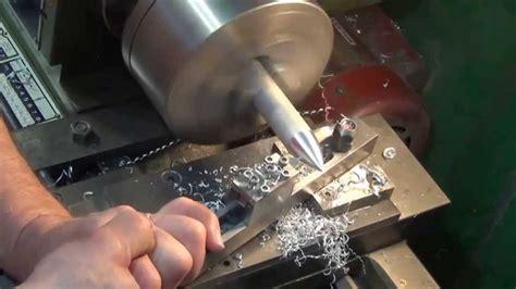 metal lathe large cone bullet radius ball cutting