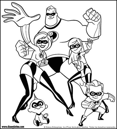 incredibles color page disney coloring pages color