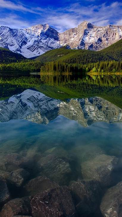 Mountains Mountain Landscape Iphone Wallpapers Lake Reflection