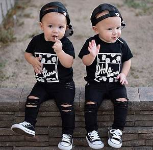 Black Distressed Skinny Jeans for Babies and Toddlers by ...