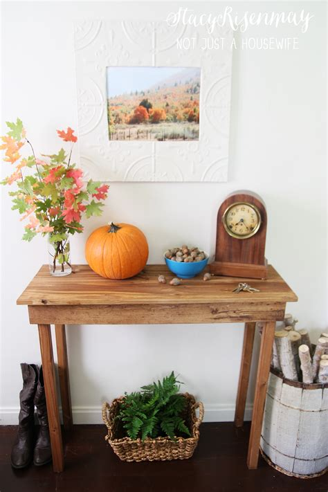 How To Make An Entryway Table by How To Build A Simple Entryway Table Not Just A