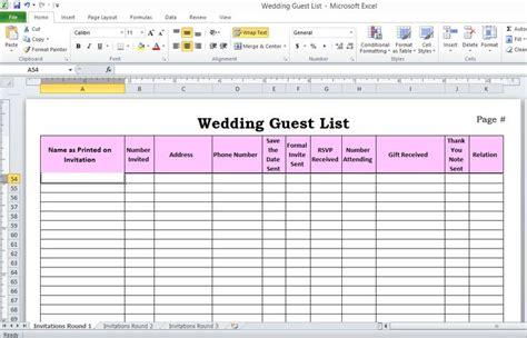 theknot guest list template wedding guest list spreadsheet the knot myideasbedroom