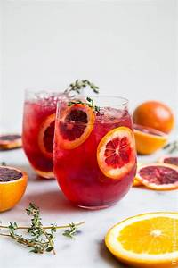 Blood Orange Elderflower Gin Cocktail- The Little Epicurean