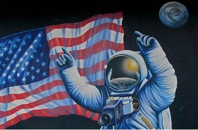 Nasa Space Flag Artwork Astronaut Usa Wallpapers