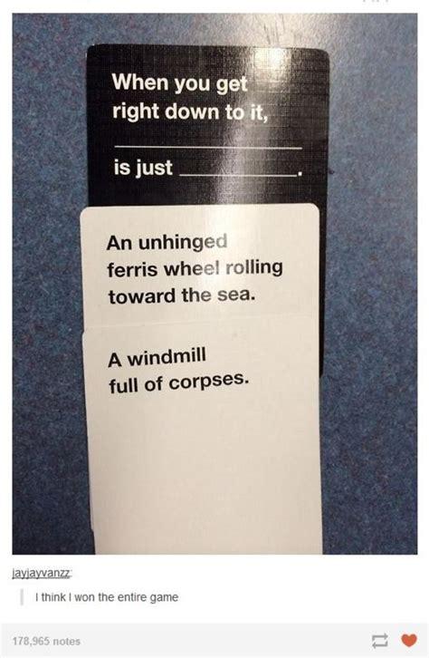 Cards Against Humanity Memes - ferris wheels cards against humanity know your meme