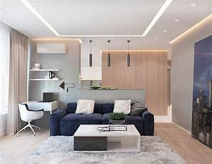 2, One, Bedroom, Apartments, With, Modern, Color, Schemes