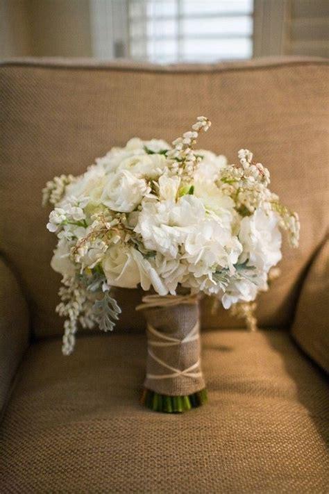 southern blue celebrations burlap lace bouquets