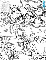 Coloring Pages Salon Mermaid Hairstyle Princess Barbie Pearl Printable Hellokids Scylla sketch template