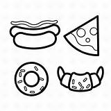Clipart Donut Coloring Outline Pizza Cliparts Dog Burger Slice Pages Clip Vector Graphic Doughnut Simpson Icons Piece Source Webstockreview sketch template