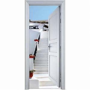 Deco Porte Interieure En Trompe L Oeil : sticker porte trompe l 39 oeil escalier grec 90x200cm 2113 stickers muraux deco ~ Carolinahurricanesstore.com Idées de Décoration