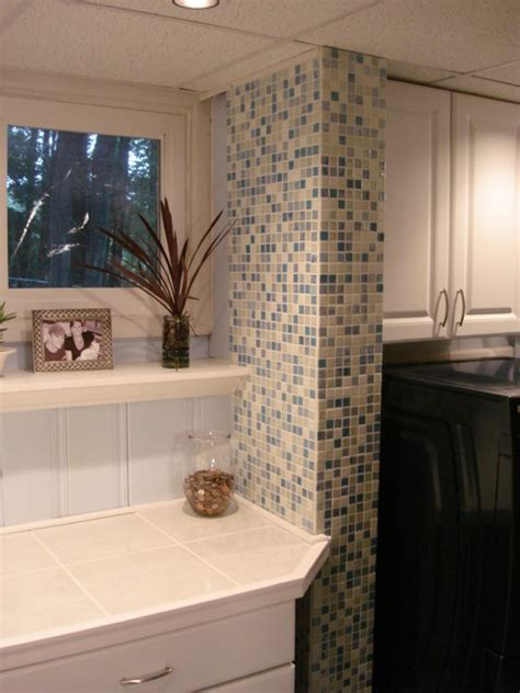 laundry room accent wall contemporary laundry room