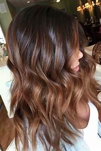 Braune Haare Mit Highlights : 1001 coole ideen f r die bezaubernde haarfarbe caramel ~ Frokenaadalensverden.com Haus und Dekorationen