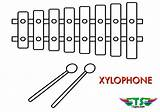 Coloring Instruments Xylophone Musical Printable Tsgos Adult Apps sketch template