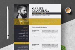 Free Creative Cv Template Download Word Resume Templates Creative Market