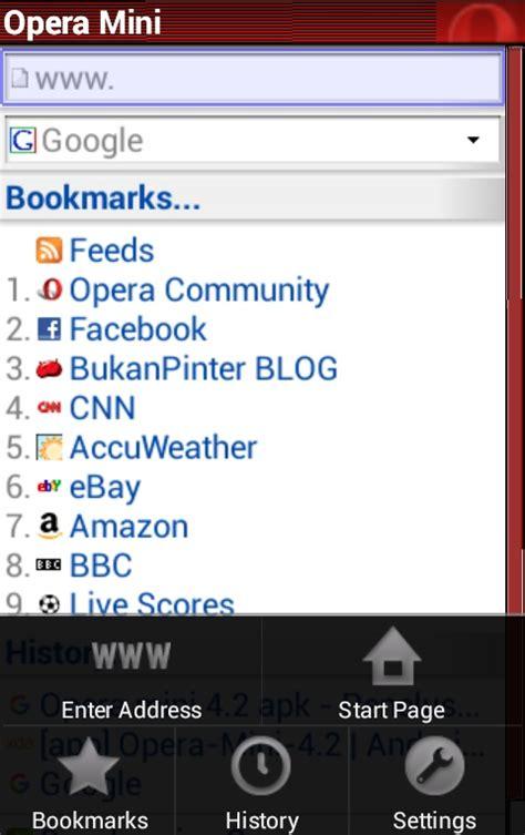 Web browser cepat kategori : Download Opera mini lama versi 4.2 lebih ringan hemat kuota ~ BukanPinter BLOG