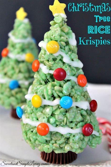 christmas tree rice krispies sweet and simple living