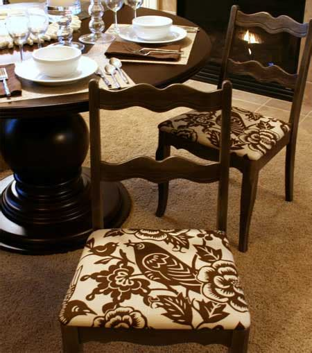 home dzine craft ideas recover  ugly dining chairs