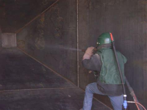 abrasive blasting protank