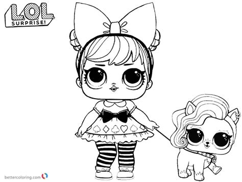 Lol Coloring Pages Curious Qt With Pet
