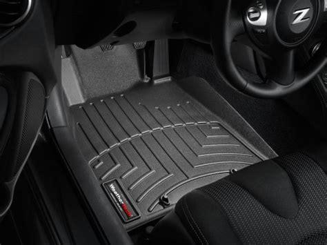 2010 2013 nissan 370z black weathertech floor liners front set driver and passenger side stig