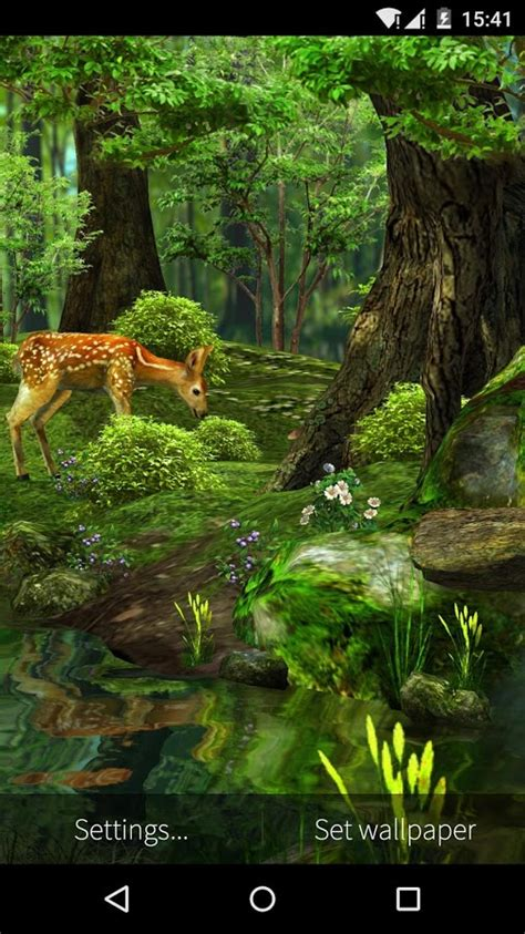 3d Animated Wallpapers Of Nature by 3d Deer Nature Live Wallpaper Android Apps On Play