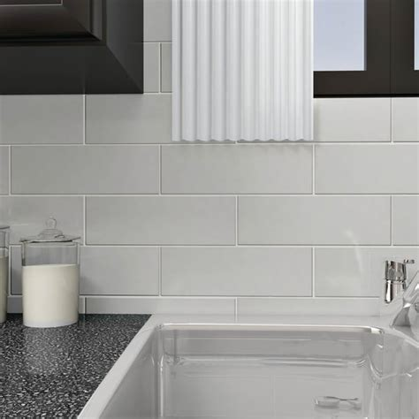 4x12 subway tile kitchen somertile 4x12 inch reflections grand subway white