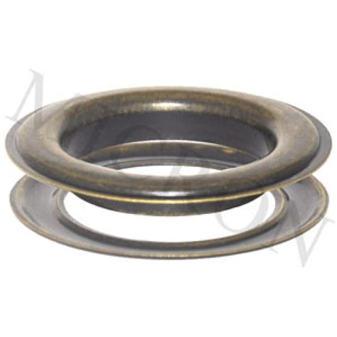 15 2 grommets and washers antique brass finish