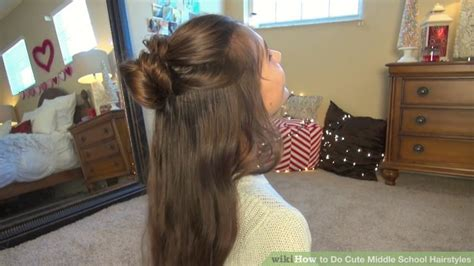 4 ways to do cute middle school hairstyles wikihow