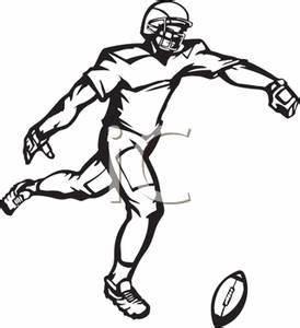 American Football Kicker Clipart