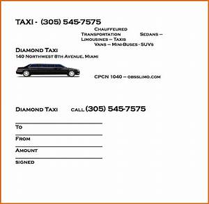 8 taxi receipt template authorizationlettersorg for Limo receipt template