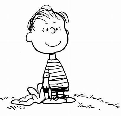 Snoopy Clip Linus Peanuts Charlie Coloring Brown