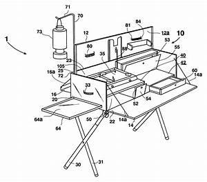 Patent Us6543436 - Portable Chuckwagon Camp Box