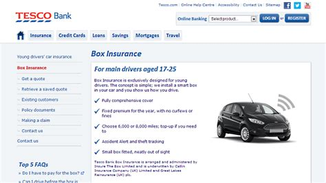 insurance for drivers prices tesco bank box insurance car tracking car insurance for