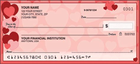personal check designs hearts checks personalchecksusa